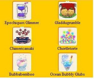 Webkinz Unsolved Food Recipes