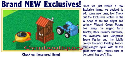 new exclusives/retireds