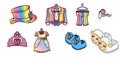 webkinz clothing machine recipes princess gown
