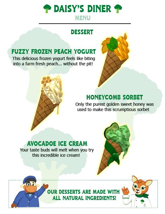 Daisy's Diner Desserts