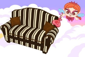 ChocolateStripedSofa