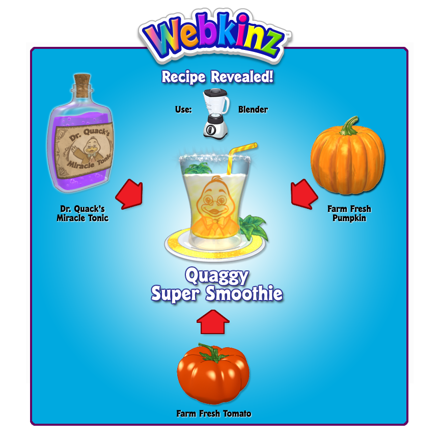 Dr quacks miracle tonic gymbos webkinz blog just take this tonic together with your harvested farm fresh foods and combine them in a blender using one of these recipes forumfinder Gallery