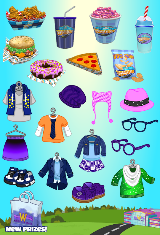 Beginning June 6th, each Spree Shopping Bag (received from collecting all 5 colored shopping bags) you drag into a room will contain a clothing item (only from Spree), a food item, and a bonus Spree roll.